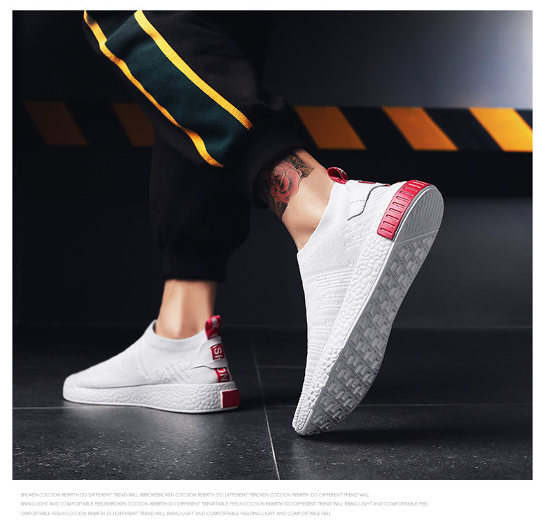 HTB1gbHizkSWBuNjSszdq6zeSpXa1 Thin Shoes For Summer White Shoes Men Sneakers Teen Shoes Without Lace Trend 2019 New Feel Socks Shoes tenis masculino chaussure