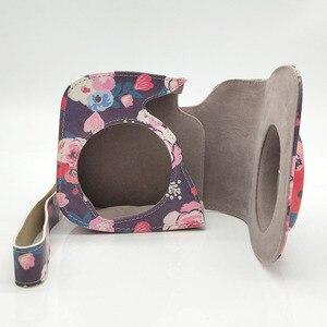Image 4 - Capa de couro pu flor para câmera, para fujifilm instax mini 9 8 plus, filme instantâneo com acessórios de bolso e correia