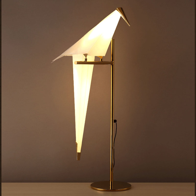 Lamparas Modernas de Aves Led Dormitorio Lámpara de mesa de Luz Led Gabinete Decoración Del Hogar Comedor Restaurante Aplique de Luz