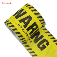 1Pack 30m/pack yellow warning Printed Paper Toilet Tissues Roll Novelty Tissue Wholesale