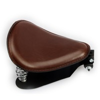 Motorcycle accessories Brown Leather SOLO Seat Frame Cover Barrel Spring For Harley seat Bobber Custom