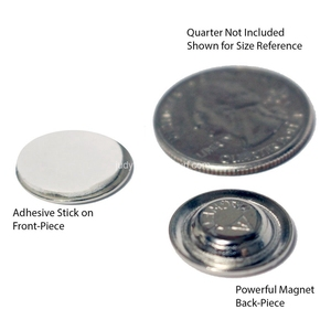 Image 3 - 50 יח\חבילה עגול מגנט עם דבק לכפתורים שם תגי דש סיכות משלוח חינם