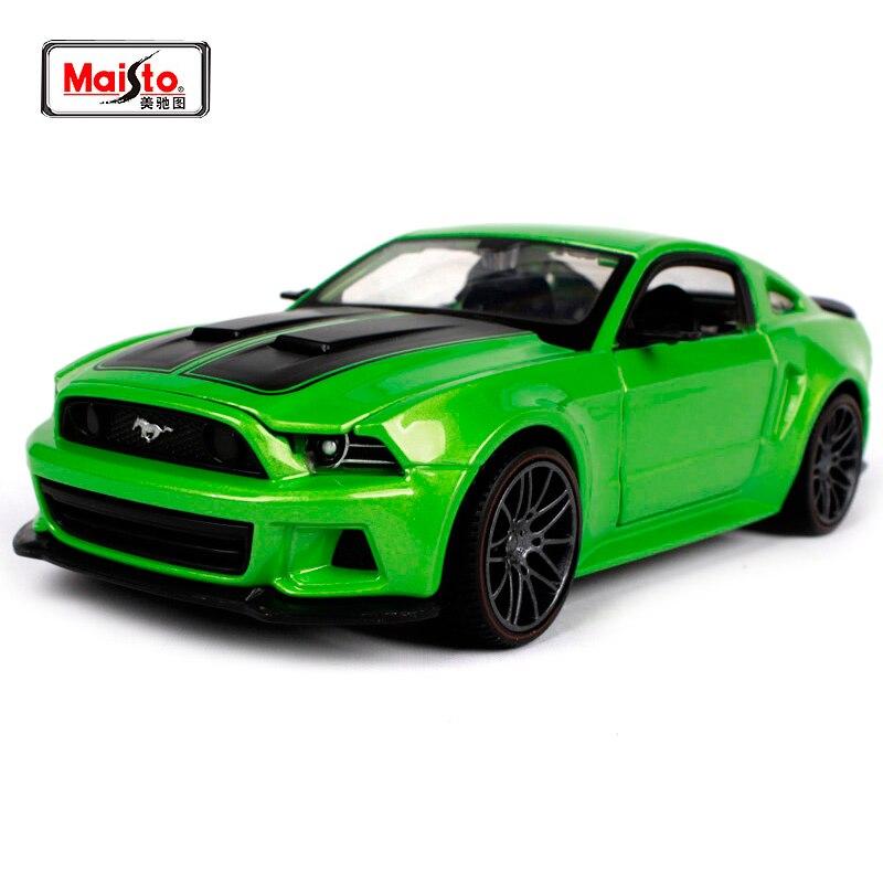 купить Maisto 1:24 2014 FORD MUSTANG STREET RACER Diecast Model Car Toy New In Box Free Shipping 31506 по цене 1828.45 рублей