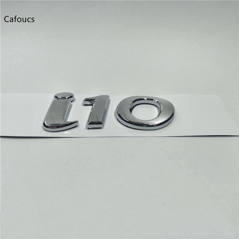 For Hyundai Elantra i10 Logo Rear Trunk Tailgate emblem letters sticker emblem