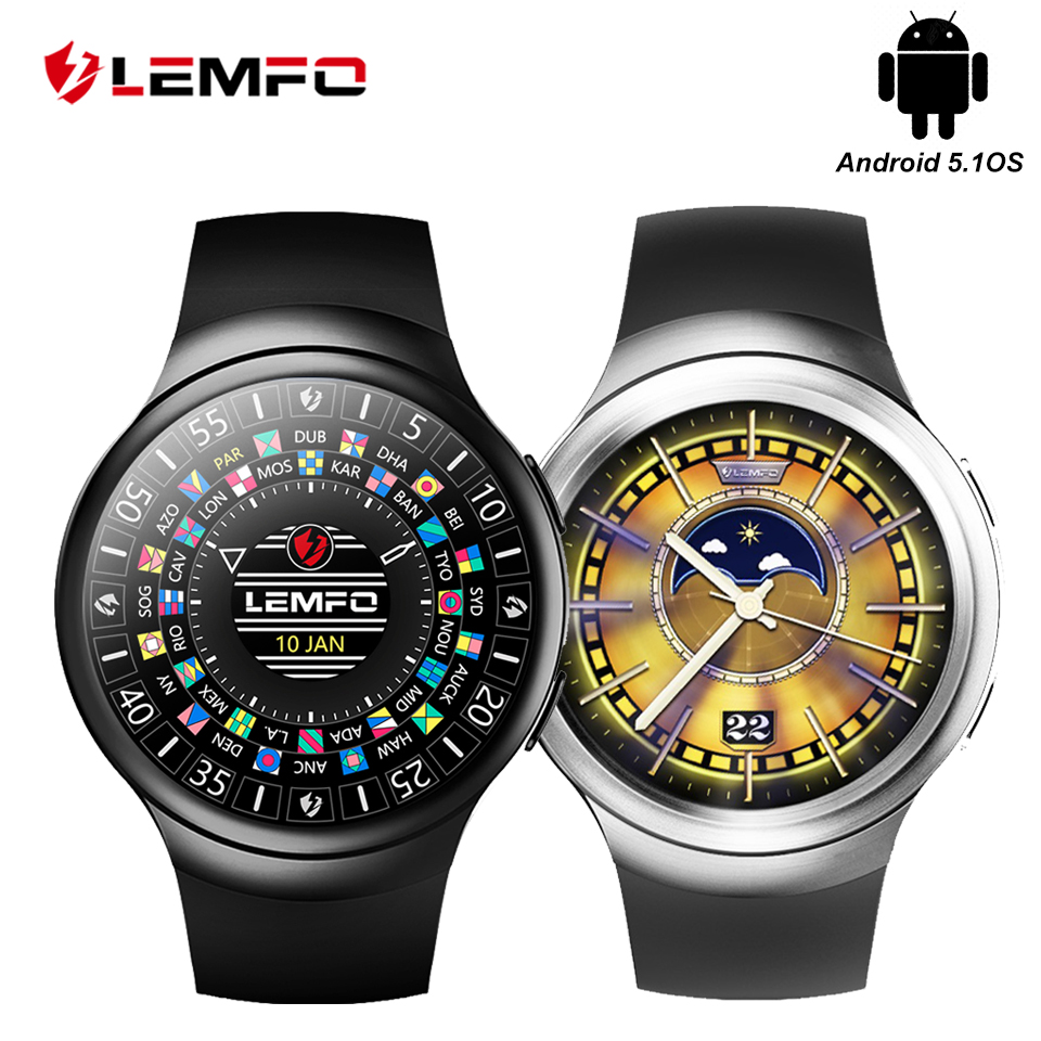 LEMFO LES2 Smart Watches Smartwatch Android Smart Watch GPS SIM Card Heart Rate Monitor Pedometer Support For Men Women smart watch men women heart rate monitor bluetooth pedometer fitness sports smartwatch with camera support sim card for android