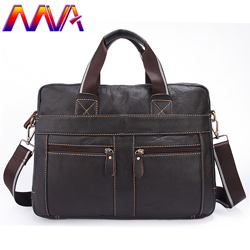 MVA Newly design casual men briefcase for fashion leather laptop bag with quality genuine leather computer bag men shoulder bag стоимость