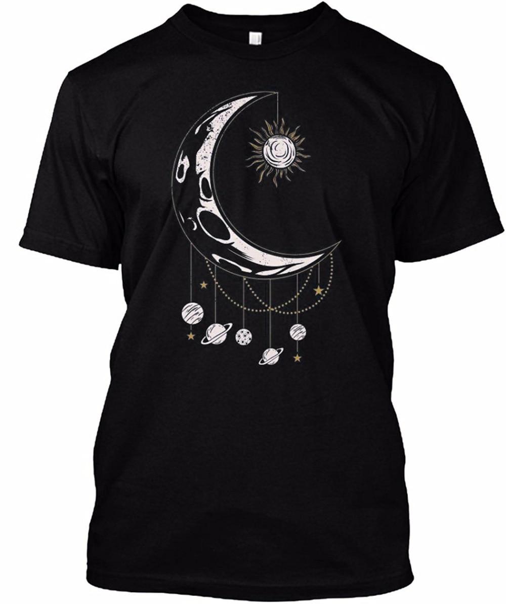 Design t shirt china - Band T Shirts Gildan Funny Design T Shirt Novelty Tops Sun Moon Solar System Casual T