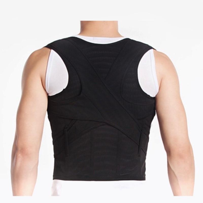 Unisex Adjustable Back Posture Corrector Brace Back Shoulder Waist Support Belt Ultra-light Ultra-thin Breathing 6 size S – XXXL