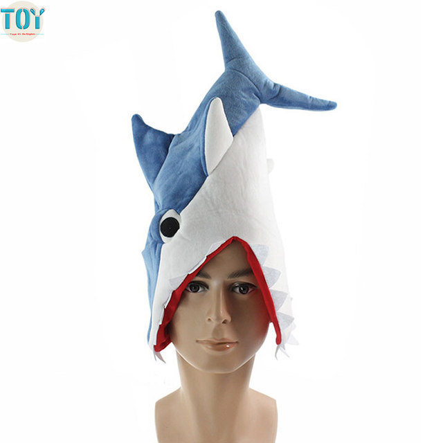 New Shark Toys Cosplay Costume Ocean Fish Hat Party Funny Cap for Adults Teenagers Christmas Gift Perimeter 24  Blue Novelty Toy  sc 1 st  Aliexpress : shark costume hat  - Germanpascual.Com