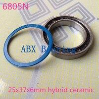 Free Shipping 6805N 2RS Hybrid SI3N4 Ceramic Ball Bearing 25x37x6mm 6805N 2RS Bike Wheels Bottom Bracket