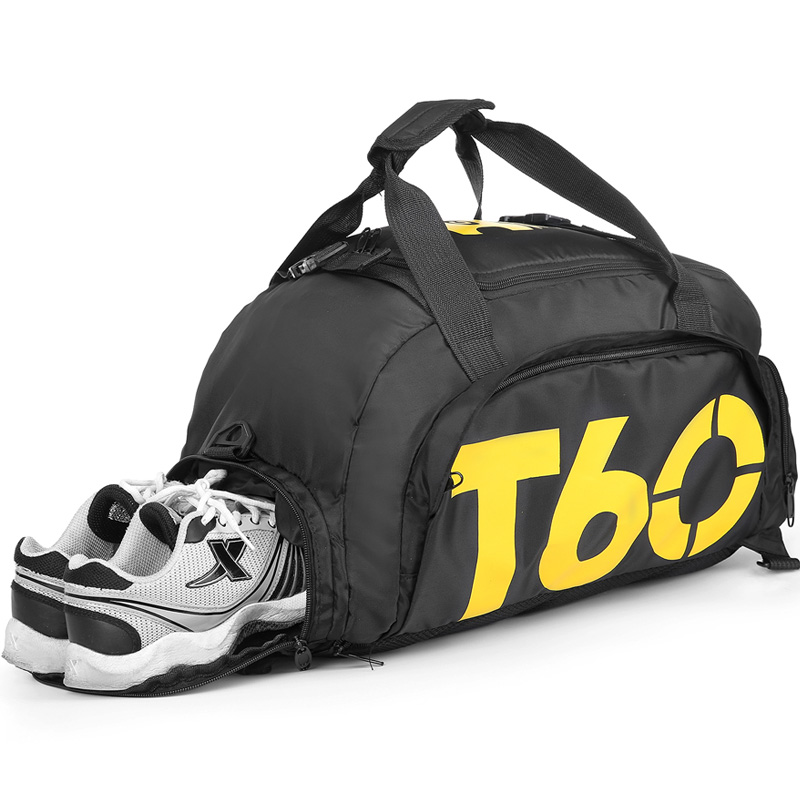 New Men Sport Gym Bag Lady Women Fitness T60 Travel Handbag Outdoor Backpack Separate Space For