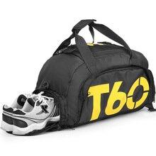 New Men Sport Gym Bag Lady Women Fitness T60 Travel Handbag Outdoor Backpack Separate Space For Shoes sac de sport bolsa deporte