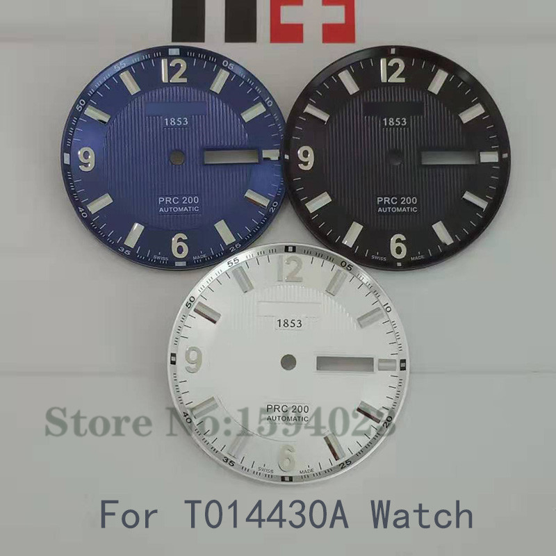 32.3mm Watch Dial Case Hands For T014430A PRC200 Male Mechanical T014 Watch Text Watch Accessories T014430 Repair Parts