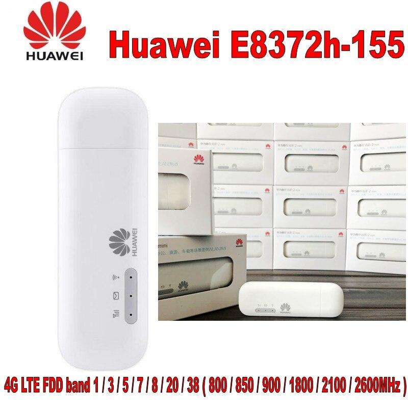 Lot de 100 pièces Débloqué Huawei E8372H-155 Wingle LTE Universel 4G Modem USB voiture wifi