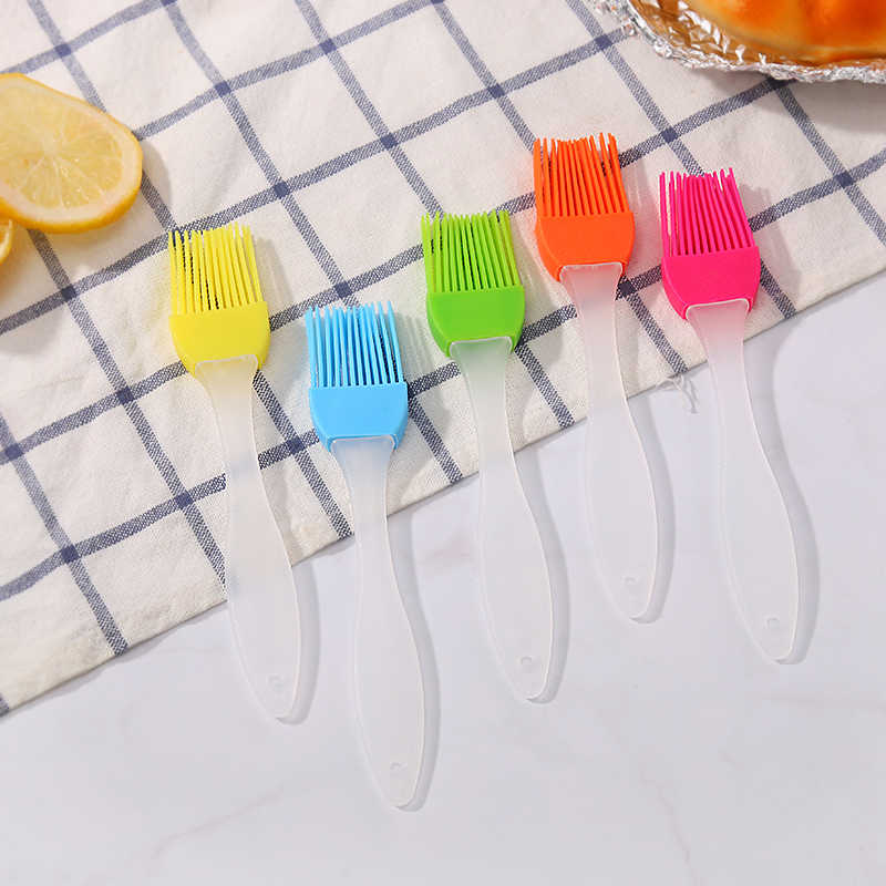 Kitchen, silicone oil brush, barbecue brush, baking, high temperature resistant, no hairy food, barbecue tools, brush, oil seaso