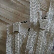10 Pcs/lot Long Plastic Ykk Zipper Resin Double Open End Beige White Heavy Duty Fasteners for Jacket Garment Sewing Accessories