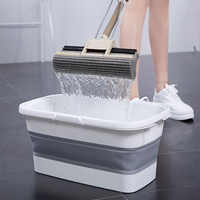 Portable Folding Mop Bucket Foldable Basin Tourism Outdoor Folding Bucket Fishing Camping Car Wash Clean Large Bucket Outdoor