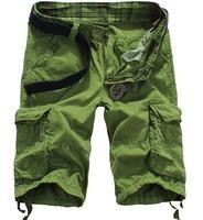 Verano 2017 deportes al aire libre senderismo escalada algodón trekking camping corta Pantalones soldado multi-bolsillo cargo ejército selva Pantalones cortos