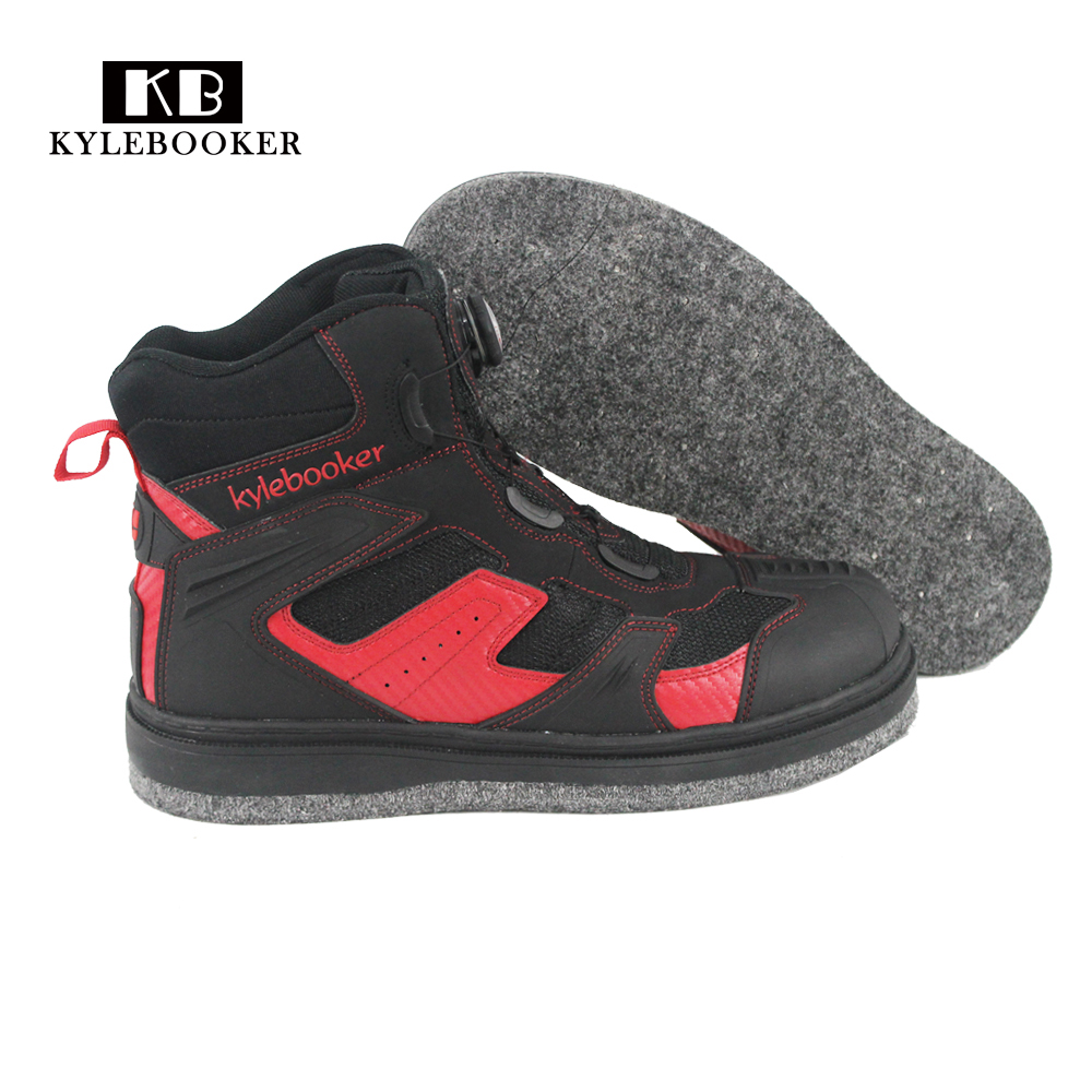 Fly Fishing Shoes Aqua Sneakers Breathable Rock Sport Wading Waders Felt Sole Boots Quick drying Non
