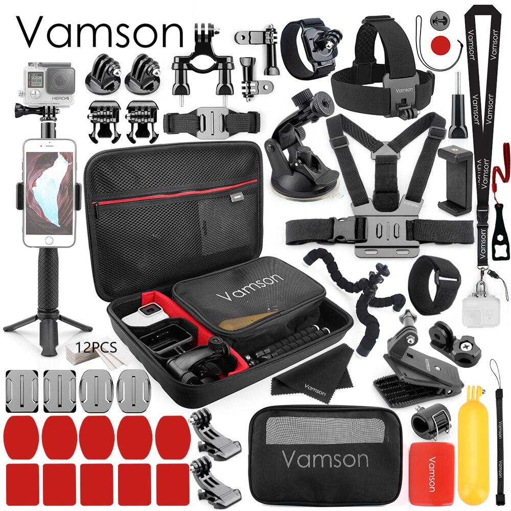 Vamson pour Gopro Hero 7 6 5 4 noir pour Gopro accessoires pour Xiaomi Yi 4 K Lite pour DJI OSMO caméra d'action SJCAM Eken VS85