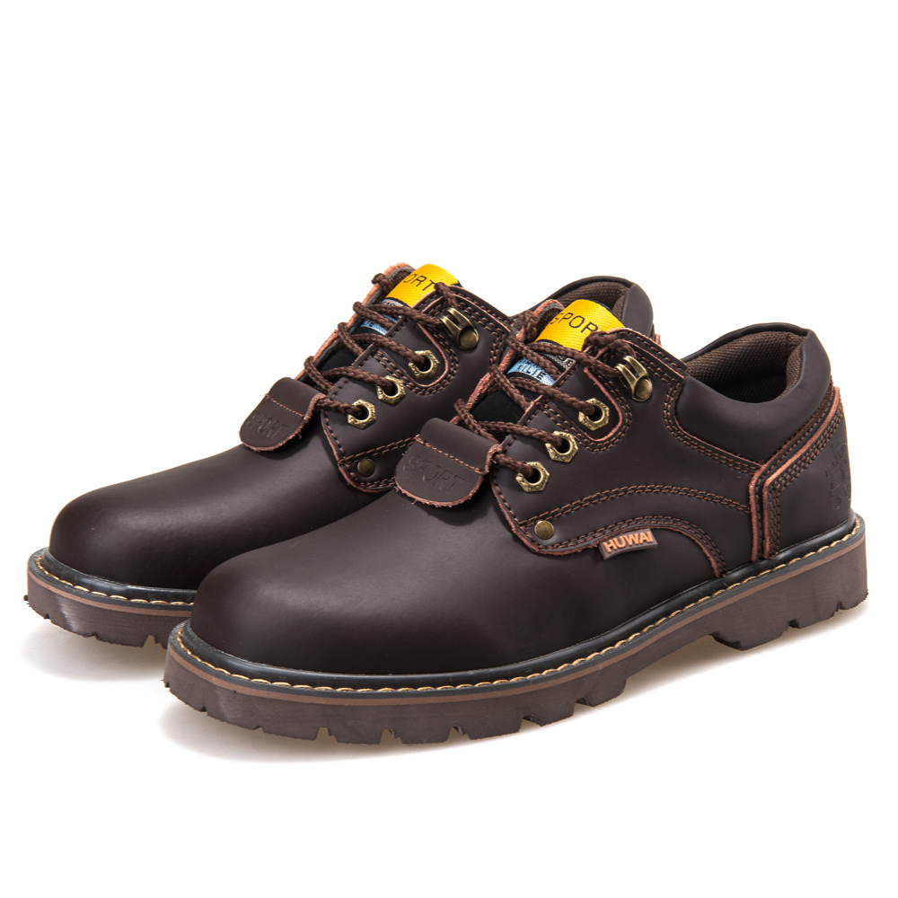 Genuine Leather Men boots Classic Ankle work Boots Nubuck leather Men - Men's Shoes - Photo 4