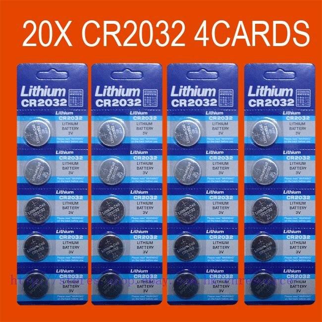 Botão Baterias Celulares 20 x cr2032 br2032 2032 Tamanho : 20x3.2