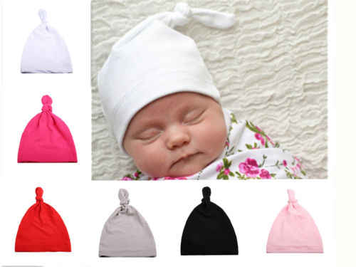 Cotton Beanie Newborn Baby Knotted Hat Boys Girls Soft Cap Infant Toddle Super Soft Baby Hat