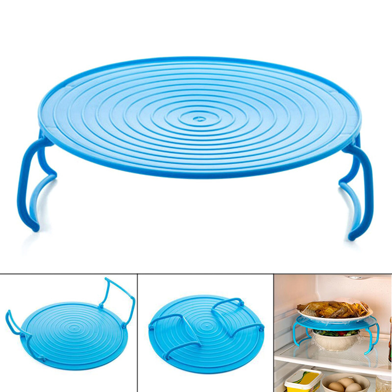 4 In 1 Microwave Plastic Stand Shelf Mini Heating Food Tray Cooling Rack Multifunction Kitchen Tool Hogard JY16