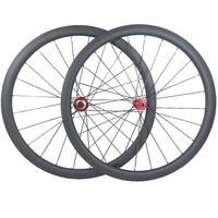 700c disc wheel 38mm tubular 25mm carbon wheels 1420 Spoke CX32 QR hubs 100x15mm 142x12mm UD 3K 1360g 24H carbon road wheels