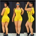 2016 Summer Bandage Jumpsuit Spandex Bodysuit One Piece Swimsuit Leotard Hoody Rompers Sexy Shorts Club Wear Casual Bodycon