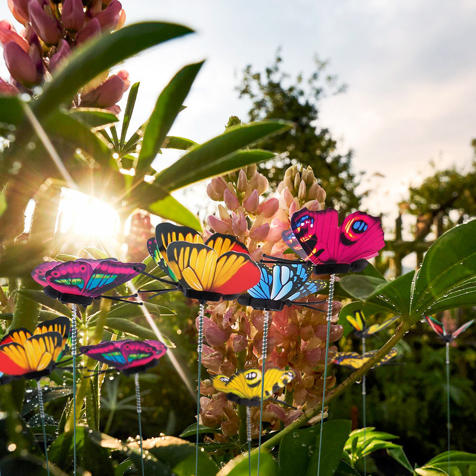 Set Of 50pcs Garden Yard Planter Colorful Whimsical Butterfly