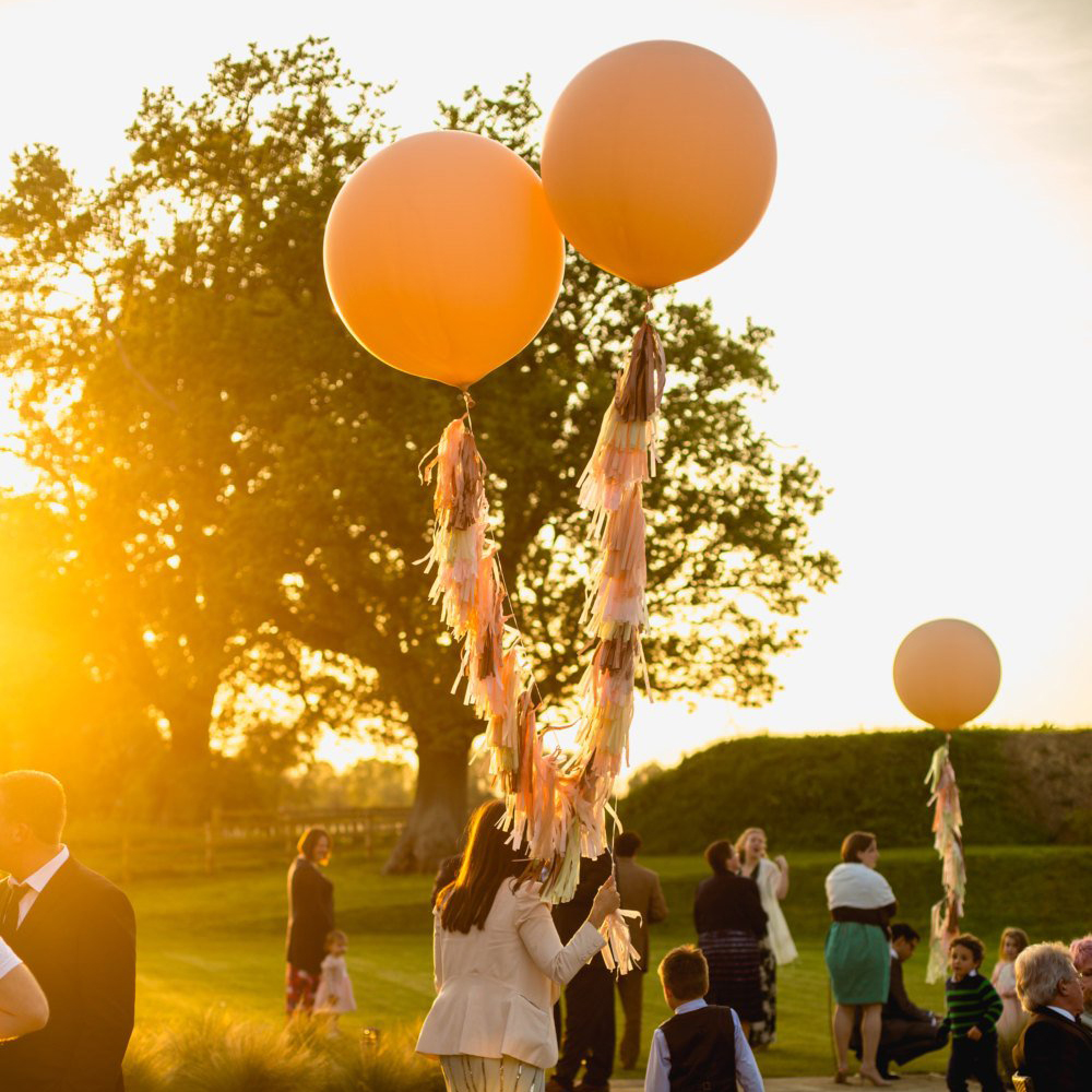 Large Balloon Tassels Metallic Holographic Wedding Birthday Party Decoration