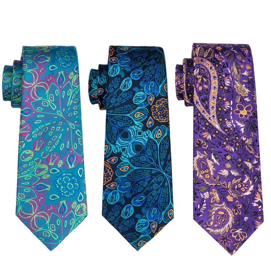 USA Barry Wang Mens Tie Ties Purple Classic Necktie Silk Woven Lot Wedding Party