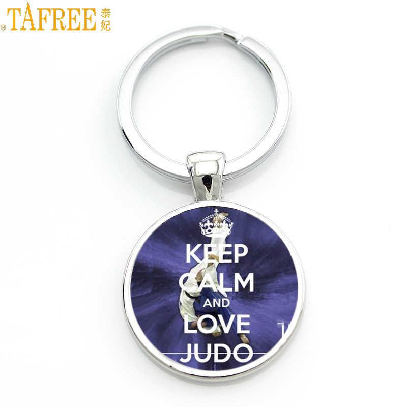 New Đến thiết kế đơn giản Judo Karate keychain thể thao chất lượng cao handmade phụ nữ người đàn ông móc chìa khóa thời trang vòng trang sức quà tặng SP589