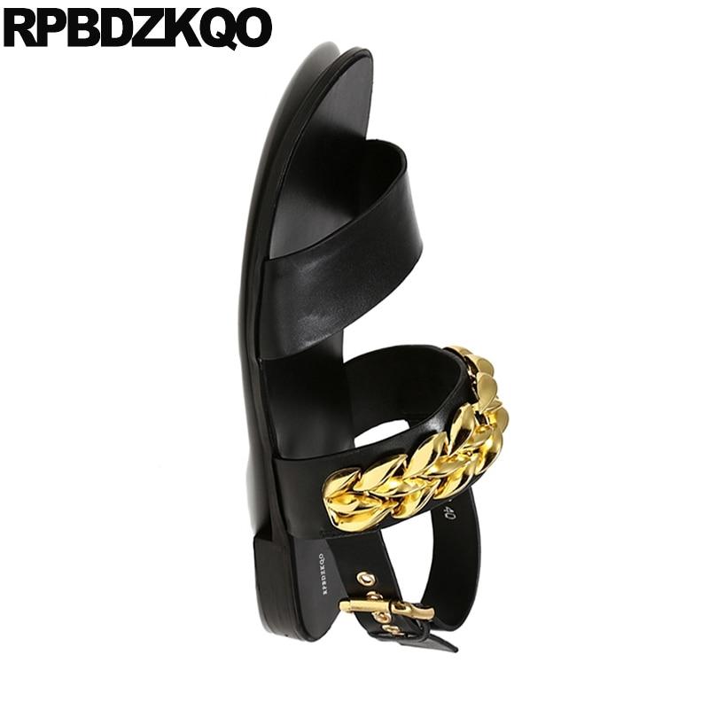 Alta Piel 2018 Diseñador Lujo Genuina Hombre De Libre Zapatos Negro Al Grande Aire 45 Sandalias Verano Nativo Calidad Talla Correa Casual qaSwWX