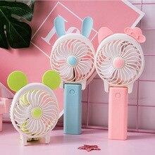 Mini cartoon hand-held usb electric fan foldable student fan portable field activity outing cooling mini fan
