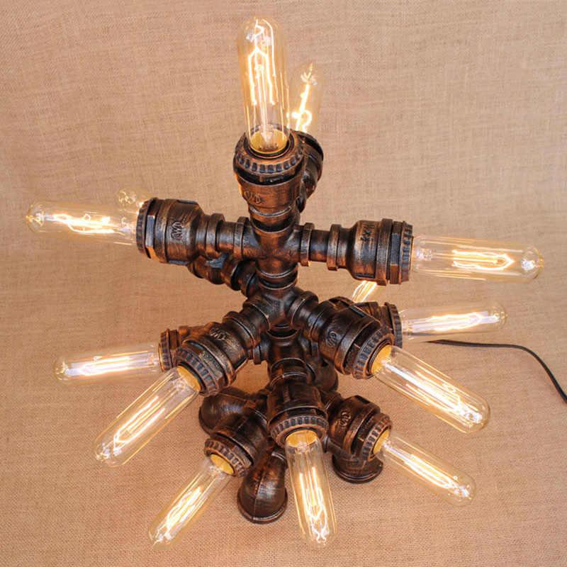Кантри арт-деко современный 13 Огни настольные лампы e27 настольная лампа для постели спальня/гостиная/офис/бар/кафе