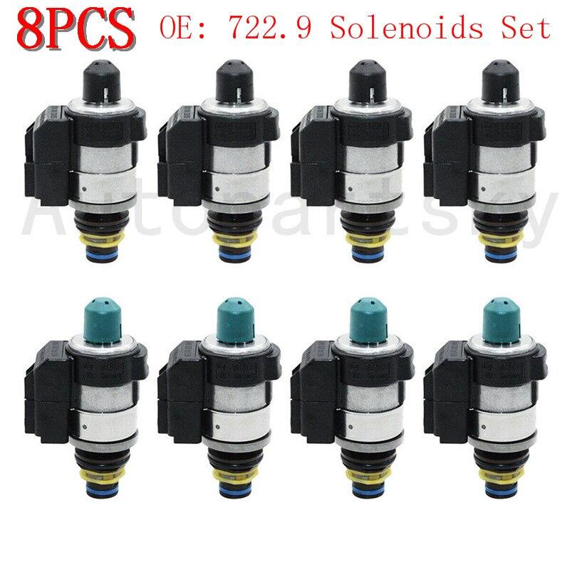 [ Set Of 8PCS ] OEM 722.9 Solenoids Set For Mercedes Benz 7 Speed Automatic Transmission Valve Remanufactured 220 277 10 98