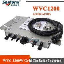 WVC 1200W אלחוטי MPPT מיקרו על רשת חשמל מהפך 220VAC 110VAC 1200W מיקרו MPPT רשת טהורה סינוס גל כוח מהפך