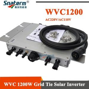 Image 1 - WVC Micro onduleur de puissance MPPT, 1200W, 1200 v ac, 110v ac, W, micro onduleur de puissance à onde sinusoïdale pure lié au réseau