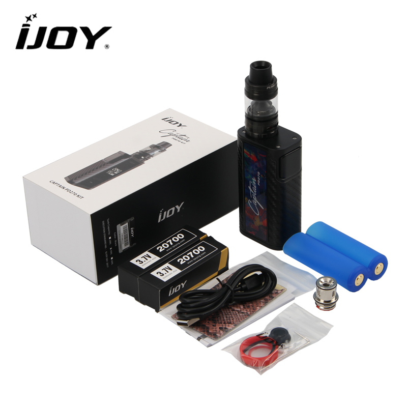 Original IJOY Captain PD270 Kit 234W Captain PD270 Box MOD with 4ml CAPTAIN S SUBOHM TANK with Dual 20700 battery e-cigarettes