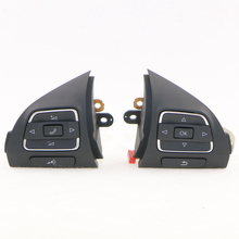 VW OEM Pair Multi-Function Steering Wheel Button For VW Golf Jetta MK6 Caddy Tiguan EOS CC 5C0 959 537A and 5C0 959 538 B