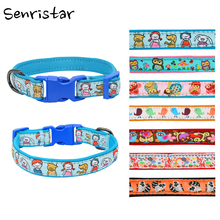 Soft Diving Cloth Buckle Dog Collar Labrador Pit Bull Dog Collar For Small Medium Large Dog Puppy Cat High Quality Pet Collars genuine leather solid padded pet dog collar husky pit bull soft diving cloth puppy cat dog collar for small medium large dog