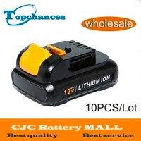 Wholesale 10PCS High Quality New Power Tool Battery For Dewalt 12V 2 0Ah 2000mah MAX Li