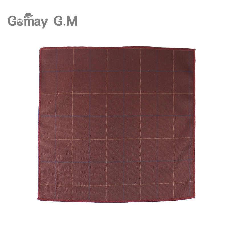 Hohe Qualität Hankerchief Schals Plaid Anzug Taschentücher 100% Baumwolle Casual männer Einstecktuch Taschentücher 25*25 cm