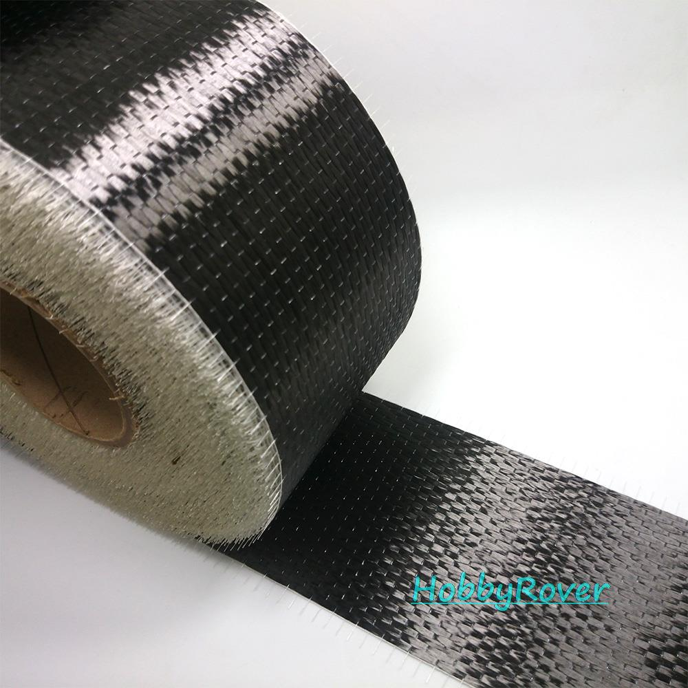 "[Grade B 3.4Gpa] 300gsm 4""/10cm Carbon Fiber 12k UD Uni-directional Cloth Fabric Tap High strength Repair material"