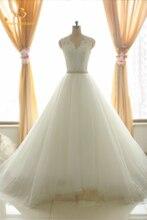 Bealegantom Sexy White Lace Wedding Dresses 2017 Appliques V-Neck Bridal Gowns Vestido De Novia QA1080