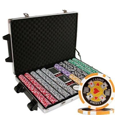 Poker set 1000 pc casino ace greentrack gambling alabama