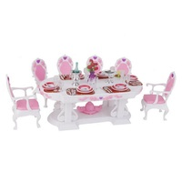 1 6 Scale Dolls House Furniture Dining Table Set For 29cm Dolls
