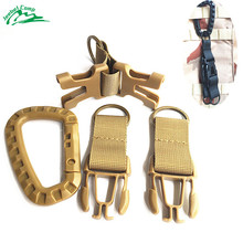 Jeebel Carabiner Backpack Molle Nylon Holder Hooks Keychain Clasp Hanging Belt Buckles Chain Camping Hiking Outdoor